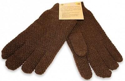 Перчатки мужские 2-х слойные из верблюжьей шерсти - фото 7150