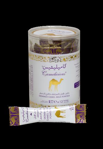 Обезжиренное сухое верблюжье молоко в стиках в тубе - фото 8110