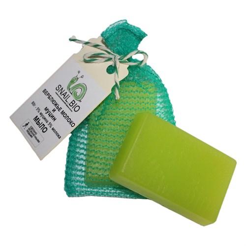 Мыло с муцином улитки и верблюжьим молоком Snail BIO Soap - фото 8220